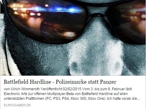 Ulrich Wimmeroth - Battlefield Hardline - eurogamer