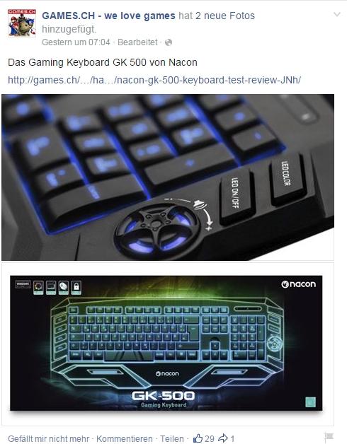 Ulrich Wimmeroth - Nacon Gaming Keyboard GK500