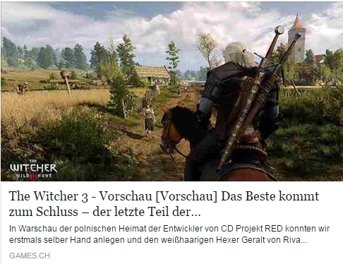 Ulrich Wimmeroth - The Witcher 3 - games.ch