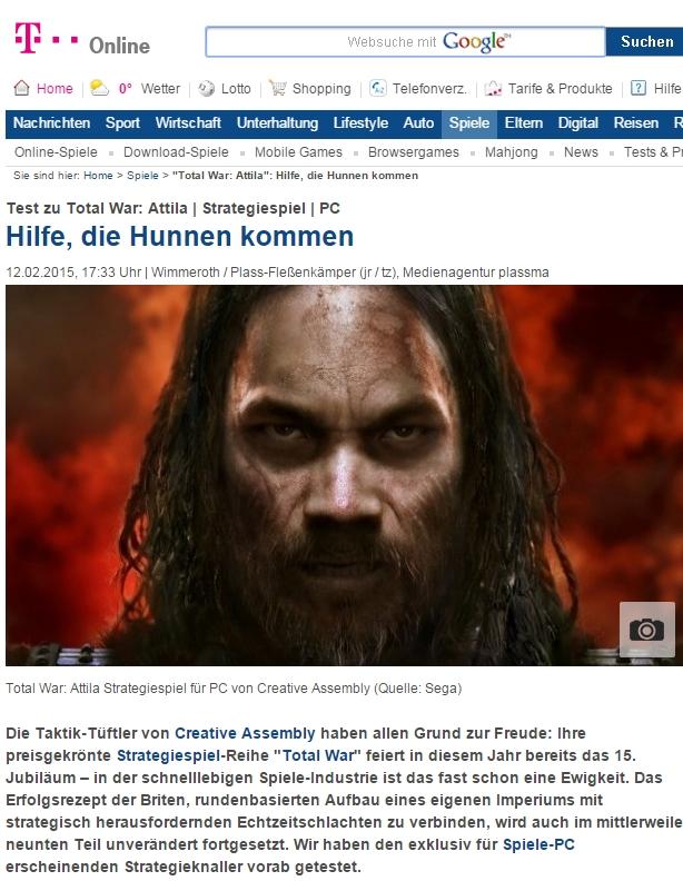 Ulrich Wimmeroth - Total War Attila - T-Online