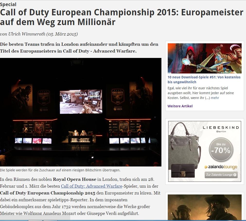 Ulrich Wimmeroth - Call of Duty european championship 2015 - spieletipps - 2