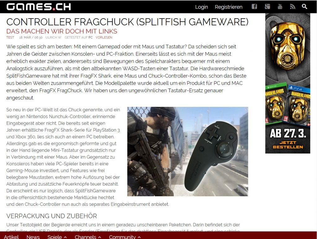 Ulrich wimmeroth - FragChuck controller im Test