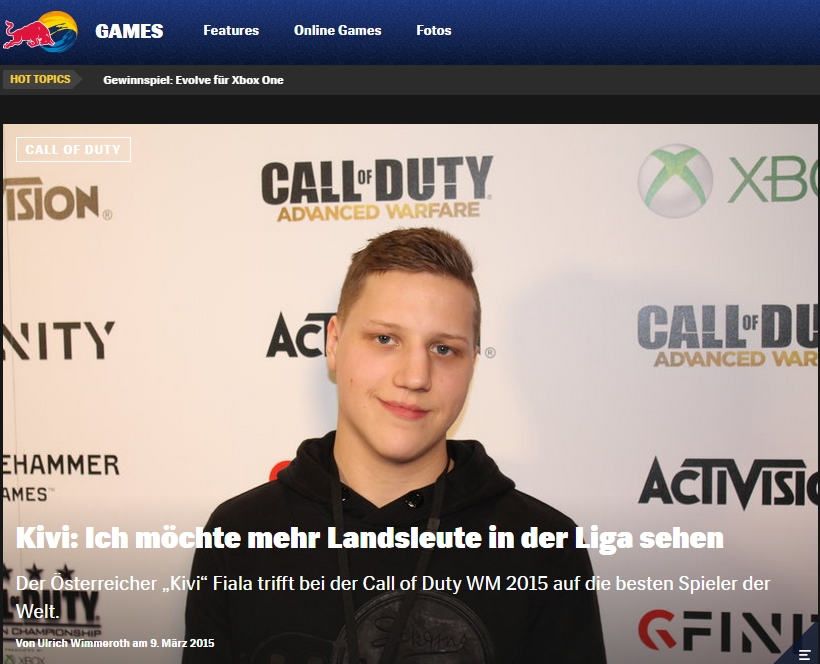 Ulrich wimmeroth - Interview mit Kevin Fiala - call of Duty eSports - red bull