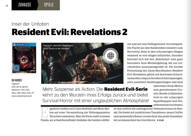 Ulrich wimmeroth - Resident Evil Revelations 2 - kinoundco