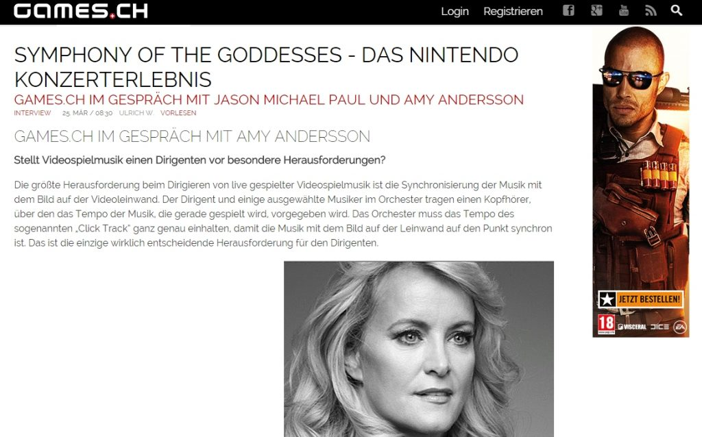 Ulrich wimmeroth - Symphony of the Goddesses Interview - games_ch