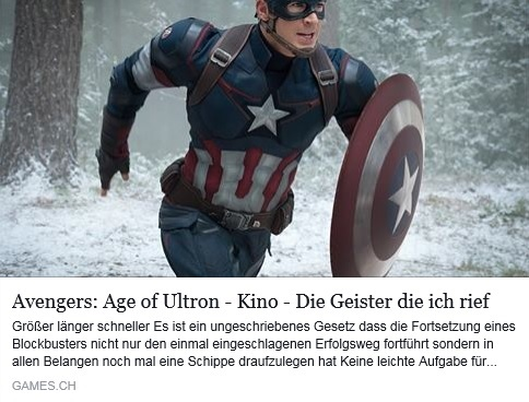 Ulrich Wimmeroth_Avengers Age of Ultron Filmkritik