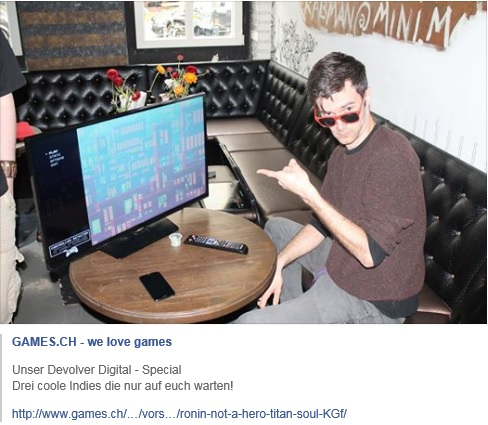 Ulrich Wimmeroth_Ronin_Titan Souls_Not a Hero_Devolver_Event