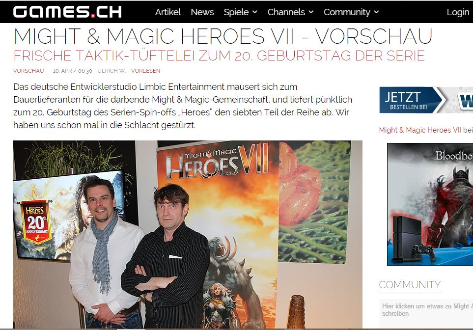Ulrich wimmeroth - Might and Magic Heroes VII - games ch