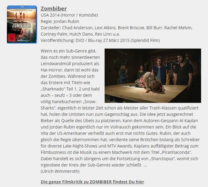 Ulrich wimmeroth - Zombiber - filmabriss