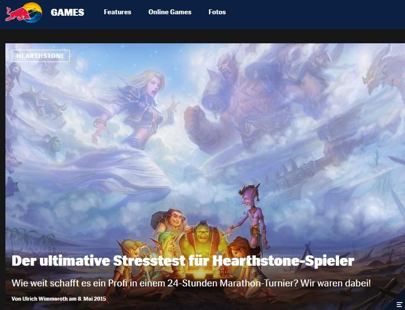 Ulrich Wimmeroth - Hearthstone ESL Turnier - Red Bull