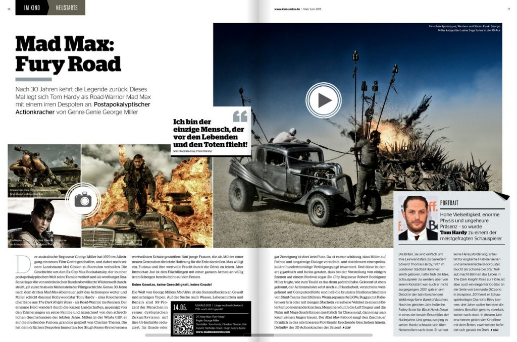 Ulrich Wimmeroth - Mad Max Fury Road - Kino und Co 169