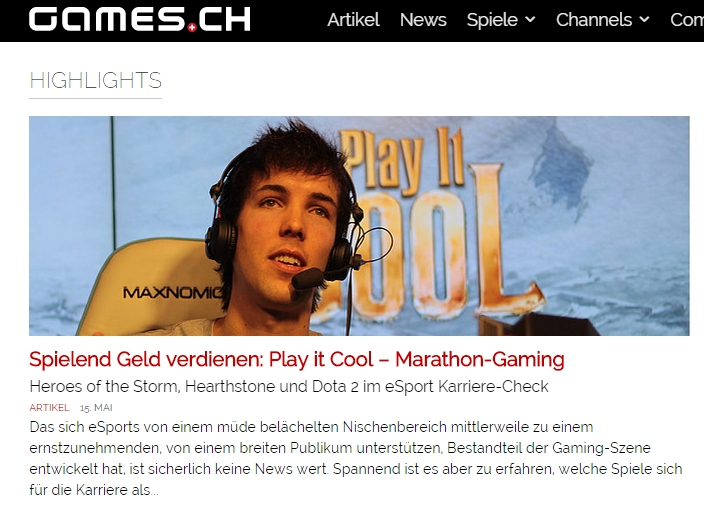 Ulrich Wimmeroth - Play it Cool Marathon Gaming - ESL - Hearthstone - Dota 2 - Heroes of the Storm