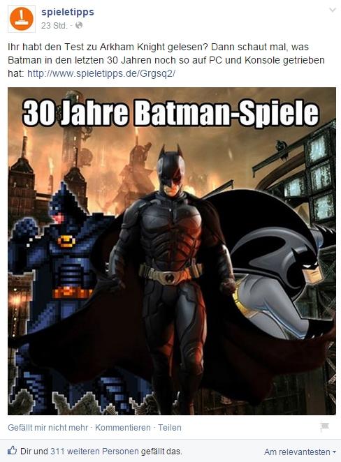 Special: Batman als Videospiel-Figur: Von Batman bis Arkham Knight