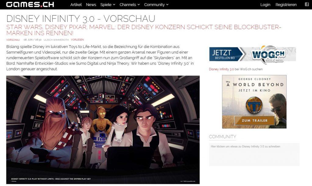 Ulrich Wimmeroth - Disney Infinity 3.0 Vorschau 1 - games.ch