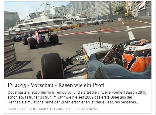 F1 - 2015 - Rasen wie ein Profi