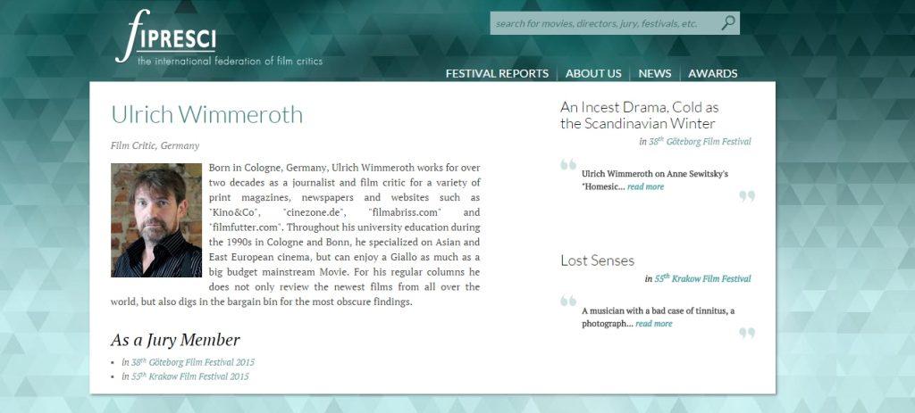 Ulrich Wimmeroth - FIPRESCI Filmkritik - Lost Senses 2