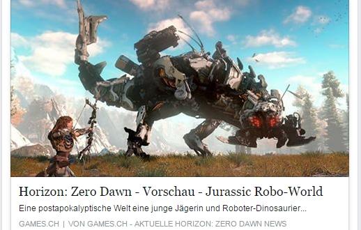 HORIZON: ZERO DAWN - VORSCHAU - Jurassic Robo World