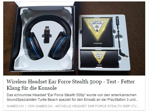 Ulrich Wimmeroth - Turtle Beach Ear Force 500p Test - games.ch