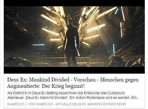 Ulrich Wimmeroth - Deus Ex Mankind Divided - games.ch