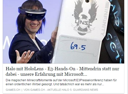 Ulrich Wimmeroth - HoloLens Experience - Halo 5 Guardian - games.ch