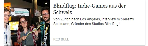 Ulrich Wimmeroth - Indie-Entwickler Blindflug Studios - Red Bull Games ch