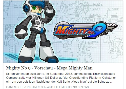 Ulrich Wimmeroth - Mighty No. 9 - games.ch