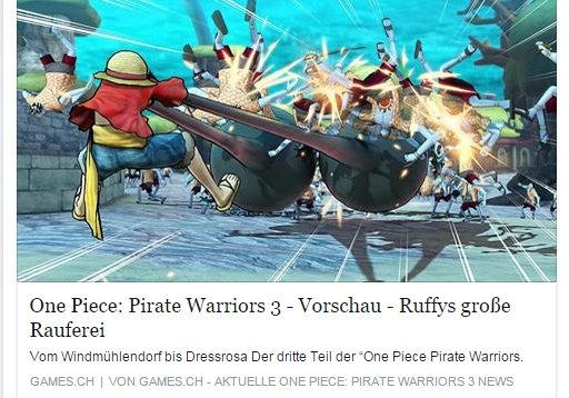 Ulrich Wimmeroth - One Piece Pirate Warriors 3 - games.ch