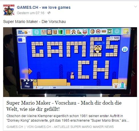 Ulrich Wimmeroth - Super Mario Maker - games.ch