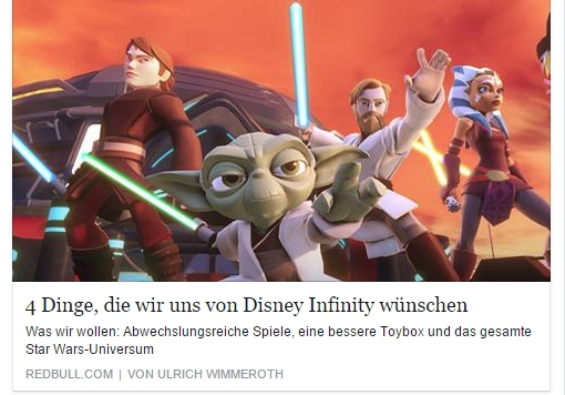 Ulrich Wimmeroth - Disney Infinity 3 - Red Bull
