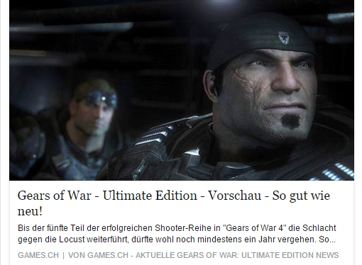 Ulrich Wimmeroth - Gears of War Ultimate Edition - games.ch
