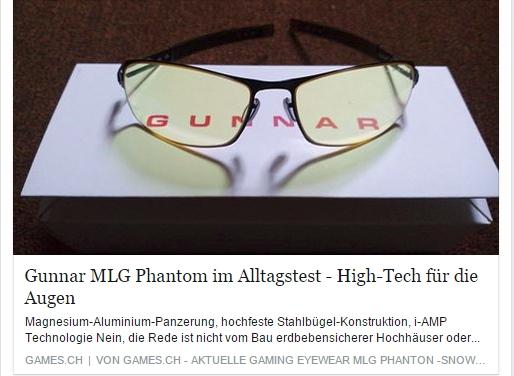 Ulrich Wimmeroth - Gunnar MLG Phantom im Test - games.ch