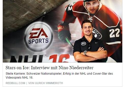 Ulrich Wimmeroth - NHL 16 - Nino Niederreiter - Red Bull
