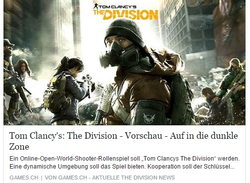 Tom Clancys The Division - games.ch