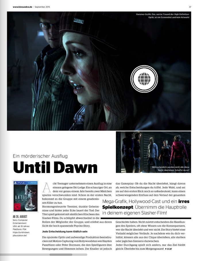 Ulrich Wimmeroth - Until Dawn - Kinoundco