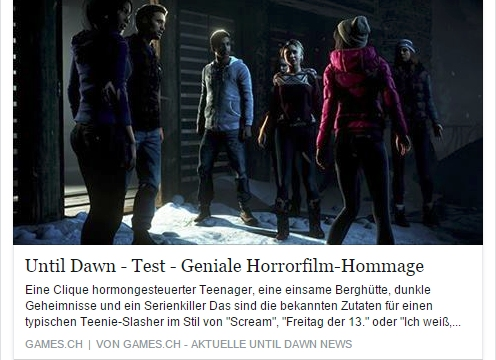 Ulrich Wimmeroth - Until Dawn geniale Horrorfilm Hommage - games.ch
