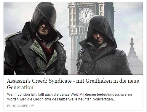 Ulrich Wimmeroth - Assassins Creed Syndicate - eurogamer
