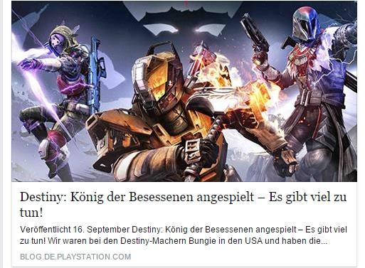 Ulrich Wimmeroth - Destiny Koenig der Besessenen - PlayStation Blog