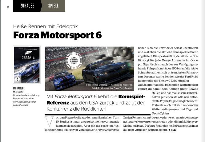 Ulrich Wimmeroth - Forza Motorsport 6 - kino und co
