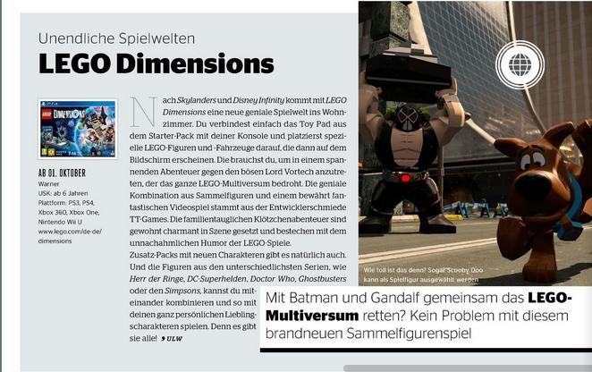 Ulrich Wimmeroth - LEGO Dimensions - kino und co