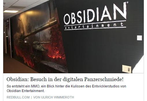 Ulrich Wimmeroth - Armored Warfare - Obsidian Studiobesuch - Red Bull Games