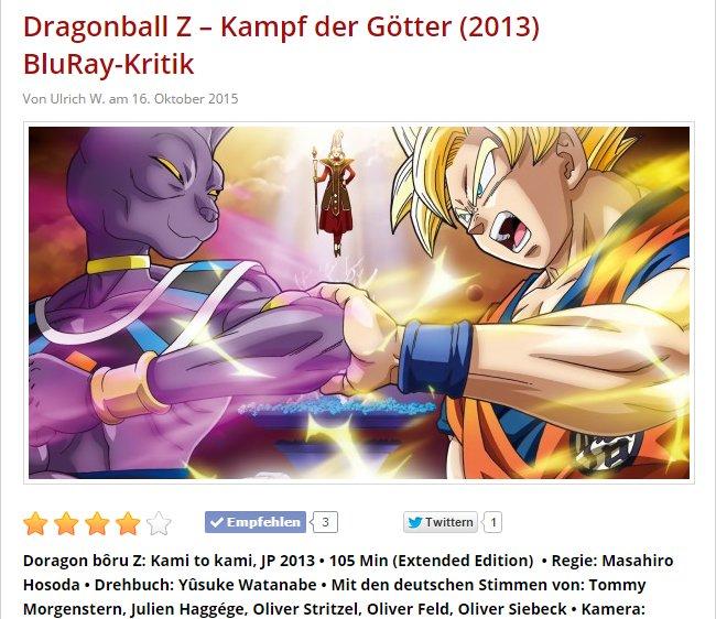 Ulrich Wimmeroth - Dragonball Z Kampf der Goetter - filmfutter