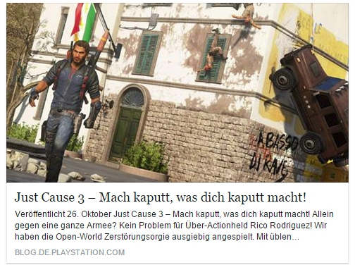 Ulrich Wimmeroth - Just Cause 3 - Playstation Blog