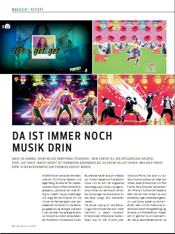 Ulrich Wimmeroth - Just Dance 2016 Report - gamesmarkt
