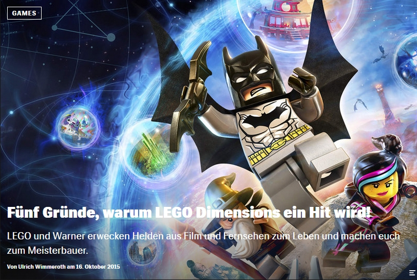 Ulrich Wimmeroth - LEGO Dimensions - Red Bull
