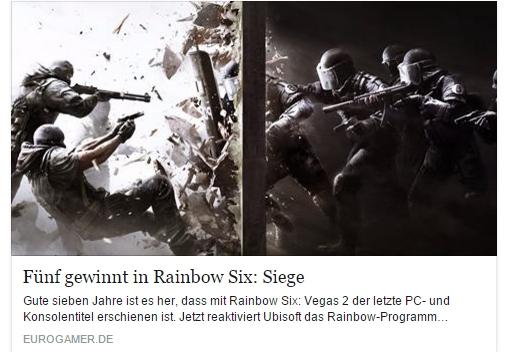 Ulrich Wimmeroth - Rainbow Six Siege - Eurogamer