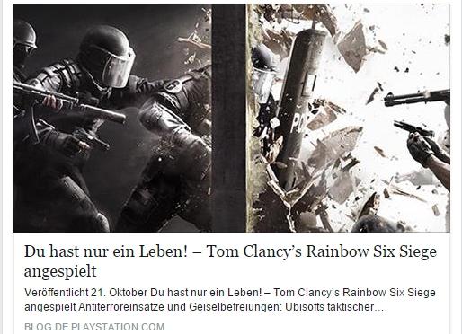 Ulrich Wimmeroth - Rainbow Six Siege - Playstation Blog