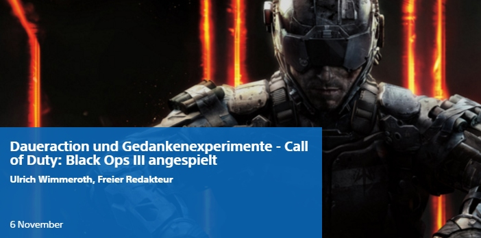 Ulrich Wimmeroth - Call of Duty Black Ops III - Playstation Blog