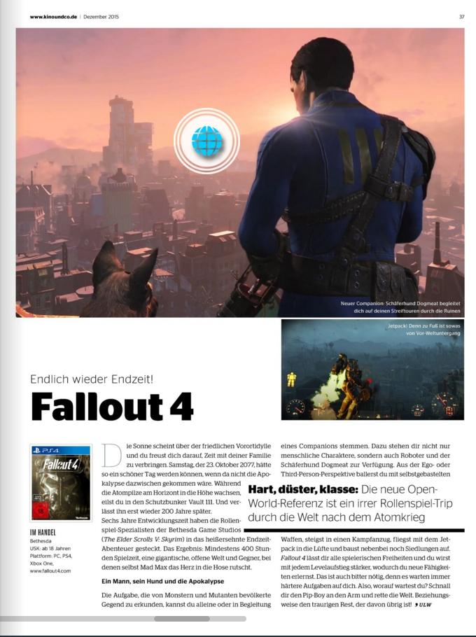 Ulrich Wimmeroth - Fallout 4 - Kinoundco
