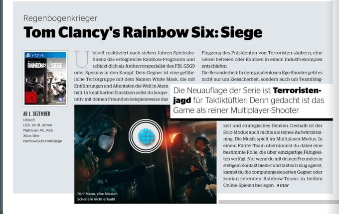 Ulrich Wimmeroth - Rainbow Six Siege - Kinoundco