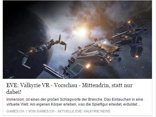 Ulrich Wimmeroth - EVE Valkyrie VR Oculus Rift - games.ch